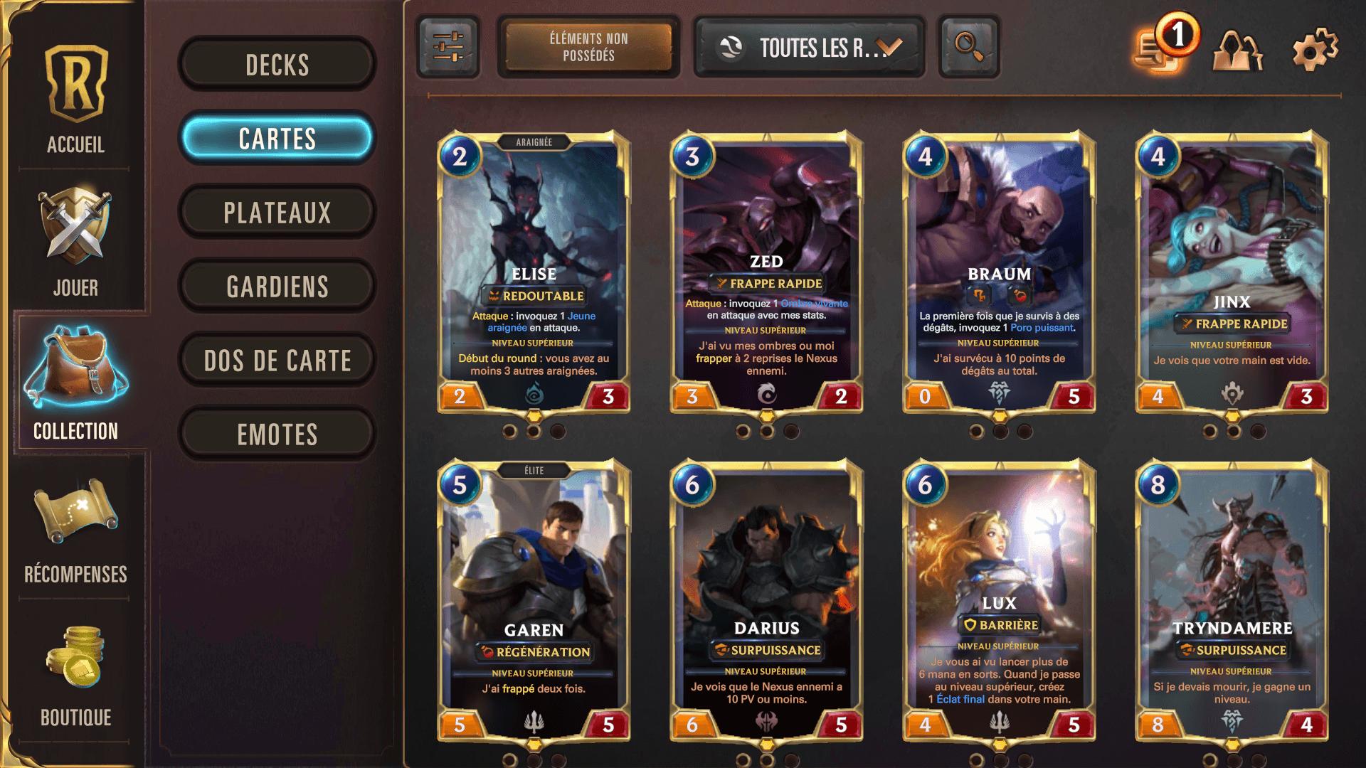 Menu Collection Runeterra