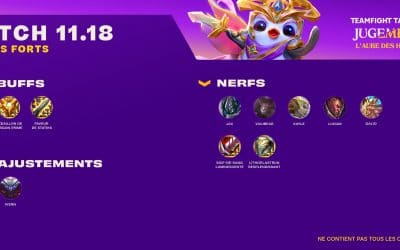 TFT – Patch notes 11.18